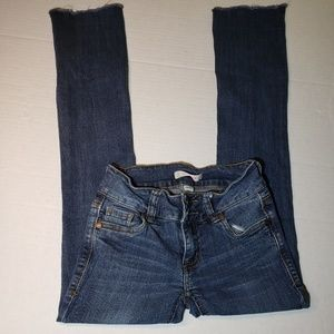 Refuge Slim Boot Jean's w/raw hem, size 0